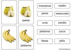 Vocabulario sobre la fruta siguiendo la metodología Montessori. Más información en mi blog: http://ele-box.blogspot.co.uk