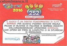 Amici Cucciolotti 2016: Retro Figurina n. 252 Tiliqua dalla lingua azzurra