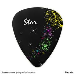 Christmas Star Polycarbonate Guitar Pick