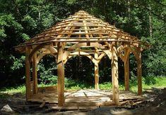 Wood Garden house