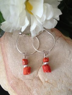 Coral Earrings by nmarzoladesigns on Etsy, $15.00