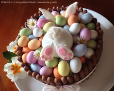 Cute carrot cake for Easter! GF!