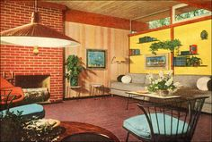 1953 Modern Living Room | by American Vintage Home