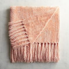 pier 1 imports blush chenille throw 40 liked on polyvore featuring home - Chenille Blanket