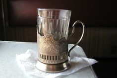 Russian tea glass and holder