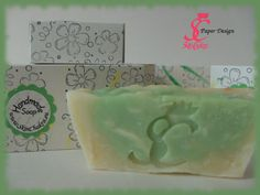 hand crafted soap box for apple & pear soap -