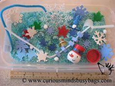 Winter Sensory Bin  - Toddler, Waldorf, Montessori. $5.50, via Etsy.