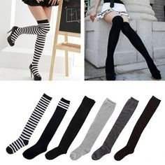2c30791e2 Women s Cotton Sexy Thigh High Over The Knee Socks Long Stockings For  Ladies JL Knee Socks