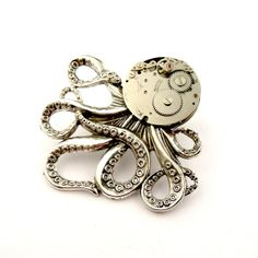 Your place to buy and sell all things handmade Photo Tent, Octopus Jewelry, Stain On Clothes, Steampunk Octopus, Get Well Soon Gifts, Men's Jewellery, Graduation Gifts, Valentine Day Gifts, Antique Silver