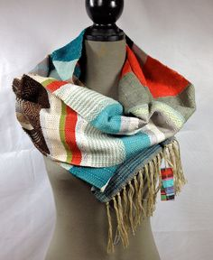 Dayton // Apple Cocoa & Dusty Sage Scarf // Unisex by pidgepidge