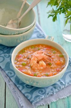 Asopao de mariscos (Seafood and rice pottage)