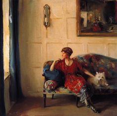 Miss Faith Moore at Chequers, 1920 - Philip Alexius de László (British, 1869-1937)