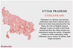 Fabric Tour Of India: Discover Unique Textiles From Every State Of India Types Of Embroidery, Indian Embroidery, White Embroidery, Fashion Terminology, Fashion Terms, Indian Textiles, Indian Fabric, Indian Culture And Tradition, Indian Crafts