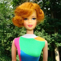 Barbie Stacey Doll Twist n Turn TNT C1967 Short Flip Titian Red Hair Original Swimsuit by AmericanBeautyDolls on Etsy
