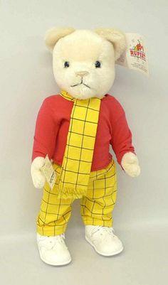 Vintage Harrods English Teddy bear, English Teddy bear wearing a ...