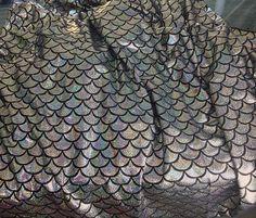 Holographic Silver Mermaid Scale Leggings