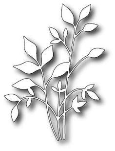 Karten-Kunst - Stempel- und Scrapbook-Shop - Memory Box Stanzschablone - Fresh Foliage