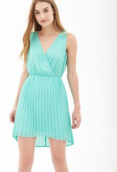 Pleated Chiffon Dress   FOREVER21 - 2000087194