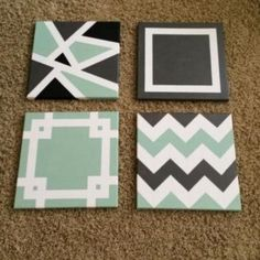 Simple Canvas Paintings, Easy Canvas Art, Small Canvas Art, Mini Canvas Art, Easy Canvas Painting, Diy Canvas, Canvas Wall Art, Tape Painting, Diy Canvas Art