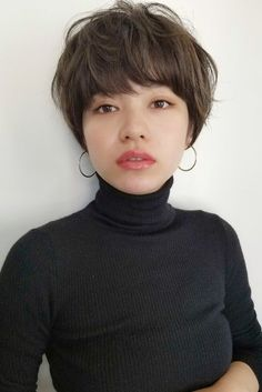 Well, one of the most trendy haircuts this year is the pixie haircut. Chic Short Hair, Asian Short Hair, Girl Short Hair, Short Hair Cuts, Shot Hair Styles, Long Hair Styles, Permed Hairstyles, Cool Hairstyles, Hair Arrange