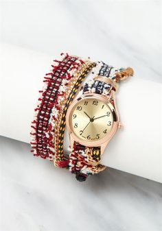 Wrap Around Crochet Chain Watch