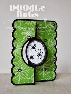 Doodlebugs:+Spider+Flip-it+Card