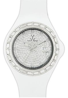 Price:$108.73 #watches ToyWatch JTB09WH, Sparkling covering of crystals glams up an interchangeable watch case grounded with a smooth silicone strap. Plastic case. Quartz movement. Date window. Buckle closure. Water resistant 50 meters. Case 44mm. Adidas, Watch Case, Plastic Case, Michael Kors Watch, Jelly, Quartz, Bling, Unisex, Crystals