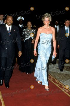 3-22-1990 Princess Diana in Cameroon Photo By:dave Chancellor-alpha-Globe Photos, Inc