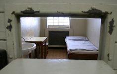 """Cell in the """"New Building"""", Hohenschönhausen Stasi Prison, Berlin"""