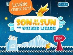SON of the SUN and WIZARD LIZARD - an interactive storybook (10 scenes) + 4 jigsaw puzzles. Original Appysmarts score: 89/100