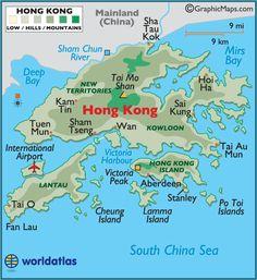 Hong Kong large color map