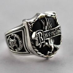 Ravenclaw silver ring, awesome!