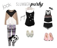 """""""SLUMBER PARTY"""" by h3llo6 ❤ liked on Polyvore featuring MANGO, Wildfox, Morgan Lane and TradeMark"""