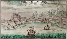 Tegning av Oslo 1685, Francois Roger Gaignieres (1642-1715). Festningen til venstre. Trefoldighetskirken Oslo, Old Pictures, Norway, Historia, Pictures, Antique Photos, Old Photos