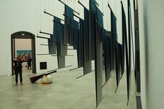 Christian Rätsch (right) and Marcel Walldorf (back). Installation view from Diploma Exhibition, Octagon, 2012. © HfBK Dresden.  250th anniversary of Dresden Academy of Fine Arts (HfBK)