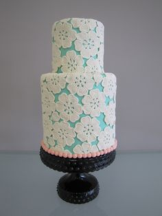 Floral Lace Cake by confectioneiress, via Flickr