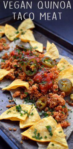 Vegan Quinoa Taco + Tortilla Chips - 4 Vegan Low Fat Recipes (Starch Solution / HCLF) - Rich Bitch Cooking Blog