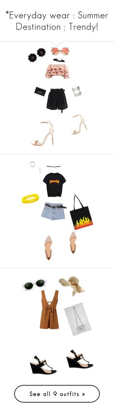 """""""*Everyday wear : Summer Destination ; Trendy!"""" by glittermoon108 ❤ liked on Polyvore featuring Charlotte Russe, Boohoo, Forever 21, Topshop, Glamorous, Who What Wear, WithChic, Miss Selfridge, Express and Machine"""