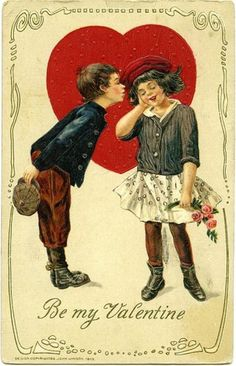 Image result for vintage happy valentines day