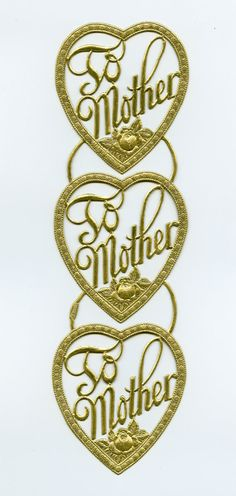 DRESDEN TRIMS  Gold To Mother Hearts by OneDayLongAgo on Etsy, $3.35