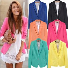 - Stylish jacket fit blazer for the modern fashionista - Great casual look perfect for any occasion - Perfect for the workplace, parties, or social events - Available in 7 colors