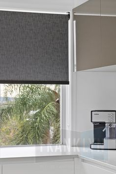roller blinds by franklyn with black bottom rail