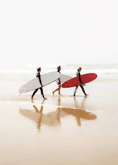 Surfers at Cote des Basques, Biarritz, France. Available as poster and laminated picture at Printler, the marketplace for photo art.