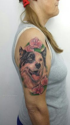 Image result for border collie tattoo