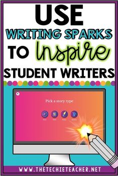 Use Writing Sparks to Inspire Student Writers: Writing Sparks is a free webtool teachers and students can use to help with the writing process Writing Mini Lessons, Essay Writing Tips, Paragraph Writing, Narrative Writing, Persuasive Writing, Writing Workshop, Teaching Writing, Writing Process, Teaching Ideas