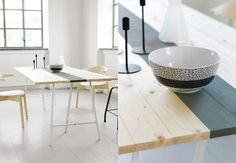 table with grey stripe :: diy   via a merry mishap