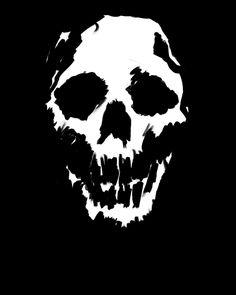 Just a little something I did as a new wallpaper. Skull Stencil, Stencil Art, Ghost Rider Tattoo, Skate Art, Skull Logo, Murals Street Art, Skull Painting, Motorcycle Art, Pulp Art