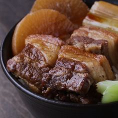 See interesting content from Tasty Japan directly on Timeline. Pork Recipes, Cooker Recipes, Asian Recipes, Tasty Videos, Food Videos, Braised Pork Belly, Asian Cooking, Cooking Tv, Mexican Cooking