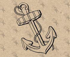 Vintage image Ship Anchor Nautical Instant Download Digital printable picture clipart graphic - scrapbooking, burlap, kraft etc HQ 300dpi by UnoPrint on Etsy #hq #png #bw #Ephemera #diy #old #book #illustration #gravure #inspiration #retro #antique #vintage #300dpi #craft #draw #drawing  #black #white #printable #crafts #transfer #decor #hand #digital #collage #scrapbooking #quality