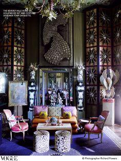 Tony Duquette Interiors | tony duquette home, delightful finds & Me, home blog, fashion blog